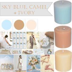 sky blue, camel & ivory!