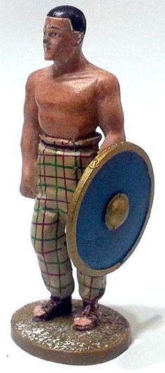 """Schiavo ribelle al seguito di Crixo, durante la ribellione di Spartaco del 73 a.C., numero 76 di """"Roma e i suoi nemici"""" (2011 Vadis) #Miniatures #Figures #AncientRome #OspreyPublishing"""