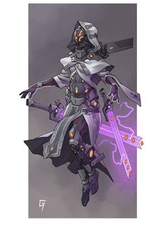 ArtStation - Character designs, Guillem Ferrer - Miriam Andrews Photo Page Fantasy Character Design, Character Creation, Character Design Inspiration, Character Concept, Character Art, Robot Concept Art, Armor Concept, Cyberpunk Kunst, Fantasy Armor