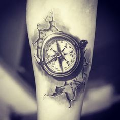 ▷ inspiring ideas and pictures about Compass Tattoo! - this is an idea for a compass tattoo on hand a map of the world and a small black compass - 3d Tattoos For Men, Black Ink Tattoos, Trendy Tattoos, Cool Tattoos, Compass Tattoos For Men, Black And Grey Tattoos For Men, Map Tattoos, Body Art Tattoos, Sleeve Tattoos
