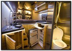Cozy Camper Van Bed Ideas - The Urban Interior Vw T3 Camper, Sprinter Camper, Mercedes Sprinter, Stealth Camper Van, Transit Camper, Sprinter Van Conversion, Camper Conversion, Vw Conversions, Motorhome