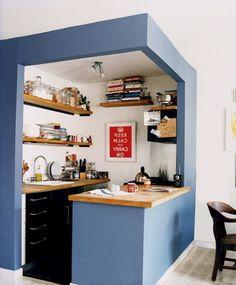 Wunderbare Kleine Küche In Eine Effiziente Und Kreative Designs Könnte Am  Ende Wird Genannt, Der
