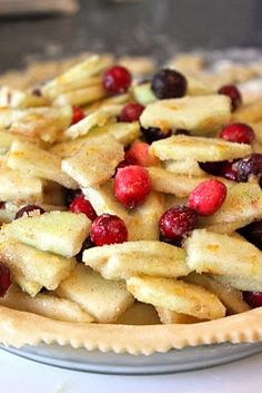 Cranberry Apple Pie, with a vodka pie crust!!! Oh My :) Yummy crust recipe.