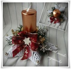 Svietnik Christmas 2017, Christmas And New Year, Christmas Wreaths, Christmas Crafts, Christmas Ornaments, Xmas Tree Decorations, Table Decorations, Natal Diy, Advent
