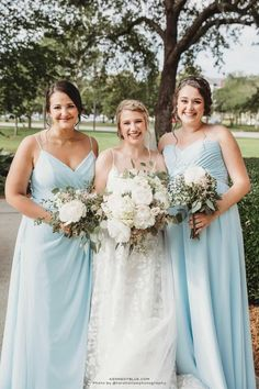 Kennedy Blue's 'Sky' bridesmaid dresses look stunning in any style! Available in 100+ styles, 50+ colors, sizes 00-32, and easy to mix & match with other styles. Find your perfect bridesmaid dresses online at Kennedy Blue! | blue wedding ideas | sky blue wedding inspo | sky blue bridesmaid dress | summer wedding | elegant bridesmaid gown | blue mix and match dresses | spring wedding | wedding planning ideas Light Blue Bridesmaid Dresses, Affordable Bridesmaid Dresses, Beautiful Bridesmaid Dresses, Bridesmaid Dresses Online, Blue Bridesmaids, Wedding Dresses, Sky Blue Weddings, Wedding Planning, Wedding Ideas