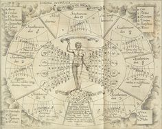 Sciathericon microcosmicum from 'Ars Magna Lucis et Umbrae' by Father Athanasius Kircher, Tarot, Renaissance, Esoteric Art, A Discovery Of Witches, Dark Ages, Astrology Zodiac, Kirchen, Writing A Book, Hand Writing