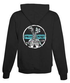 New zip up hoodies listed! :) #rollerderby #dressderby