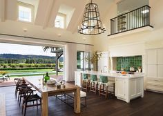 A beautiful modern family home was renovated by Wade Design Architects along with Jennifer Robin Interiors, sited in St. Helena, California.