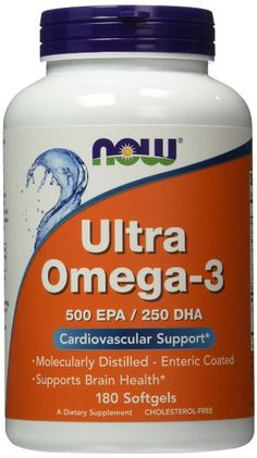 Now Foods Ultra Omega 3, Fish Oil Soft-gels, 180-Count