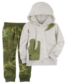 Baby Boy 2-Piece French Terry Hoodie & Jogger Set | Carters.com