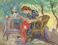 Charles Camoin, Femme à sa couture