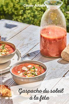 La recette du gaspacho du soleil à la féta #cuisineactuelle #gaspacho