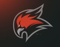 Phoenix Mascot logo - Edge on Behance Logo Esport, Typo Logo, Art Logo, Logo Design Inspiration, Icon Design, Eagle Logo, Eagle Mascot, Game Logo Design, Esports Logo