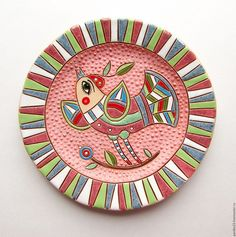 Новости Ceramic Clay, Ceramic Painting, Fabric Painting, Clay Wall Art, Art For Kids, Polymer Clay, Decorative Plates, Mandala, Porcelain