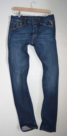 new mensReplay Jeans Diatra Dark wash Regular Tapered Fit leg JEANS W29 L32 #Replay #SkinnySlim