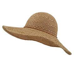 39da456232601e lethmik Womens Summer Straw Hat Wide Brim Hand Woven Foldable Beach Floppy  Sun Hat Khaki