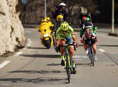 Alberto Contador of Spain and Tinkoff descends towards Nice in an attempt to take overall victory on stage 7 of the 2016 Paris-Nice, the final stage of 134km, starting and finishing in the town of Nice on March 13, 2016 in Nice.  ‪#‎ParisNice‬ #rm_112