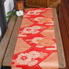 $60.00 Japanese Vintage Kimono Silk Table Runner. Created From A Vintage  Silk Blend Kimono Panel
