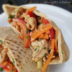 Peanut Sauced Chicken Pita Sandwiches - Cooking Light, or over angle hair?