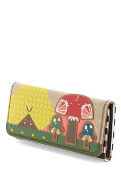 Mushroom of One's Own Wallet by Crowded Teeth - Faux Leather, Multi, Kawaii, Mushrooms, Novelty Print