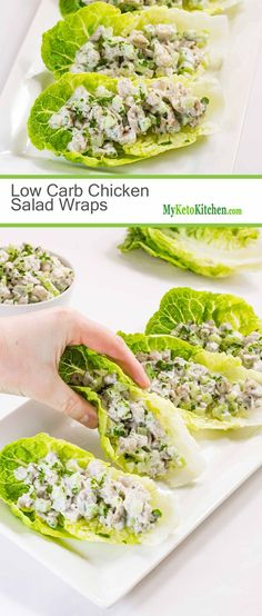 Low Carb Chicken Salad Wraps (Keto, Gluten Free, Dairy Free)