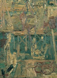 Frank Auerbach, Oxford Street Building Site, 1960, Oil on board  Pallant House Gallery (Wilson Loan, 2006) © The Artist, Courtesy Marlborough Fine Art