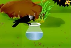 The thirsty crow finds the water too low