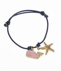 Women's Jewelry: Enamel Whale Cord Bracelet for Women - Vineyard Vines
