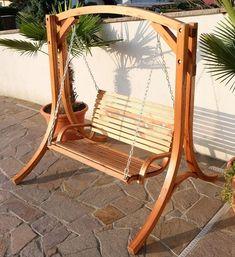 Amazon.de: Design Hollywoodschaukel Gartenschaukel Hollywood Schaukel KUREDO-OD aus Holz Lärche von AS-S