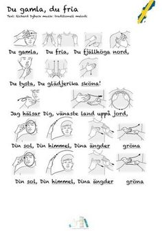 Tecken som stöd: Nationalsången Sign Language, Pre School, Teaching, Education, Signs, Adhd, Kindergarten, Communication, Music