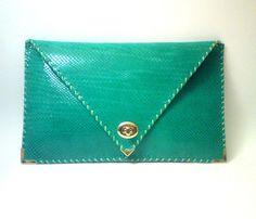 Emerald Patent Leather Clutch
