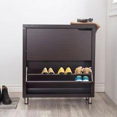 KSP Marco Shoe Cabinet 2-Drawer (Espresso)
