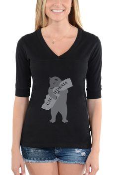 Bear Hugging California | Cool T Shirt Designs | Football V-neck Tee