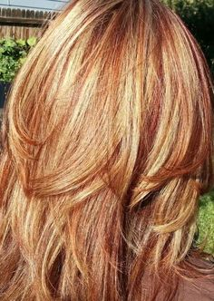 Auburn with strawberry highlights
