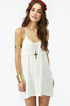 Crochet Cross Dress in Ivory