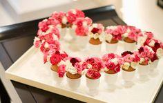 pink heart flower arrangement