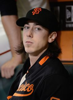 Tim Lincecum #55 Of The San Francisco Giants Looks