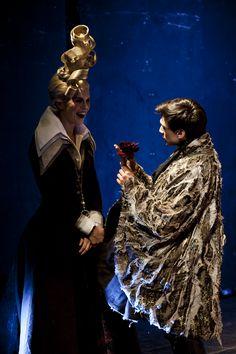 l'Illusione teatrale at Teatro India, Rome - costumes designed by students of Accademia di Costume e di Moda I characters: Geronte and Clindoro