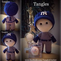 Baseball Player * Big Head Baby Doll