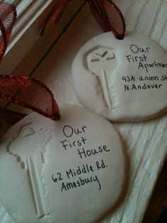 Keepsake ornaments for first house or apartment
