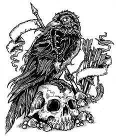 crow tattoo design | Gnarly Crow On Flickrpen Amp Ink Design