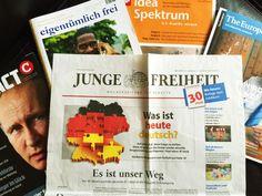 """Laut der """"Informationsgemeinschaft zur Feststellung der Verbreitung von Werbeträgern"""" (IVW) stieg die verkaufte Auflage der JF im dritten Quartal 2016 gegenüber dem Vorjahreszeitraum um 18 Prozent …"""
