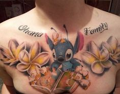 Lilo & Stitch tattoo minus the flowers and words