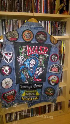 Metal Jacket Metal Jacket from Denim Vests, Denim Jackets, Street Clothes, Street Outfit, Punk Outfits, Trendy Outfits, Punk Jackets, Battle Jacket, Old Shirts