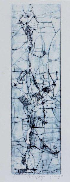 George RAFTOPOULOS_Pecher Zezeyer #blue #western #artist #nonindigenous #contemporain #Australia