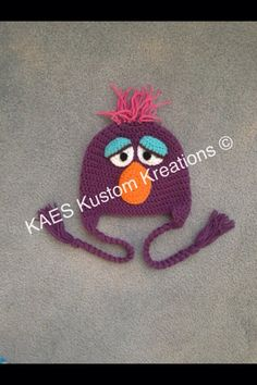 Items similar to PDF PATTERN ONLY Sesame Street Telly Character Hat Pattern  on Etsy 7982ccf8cc9