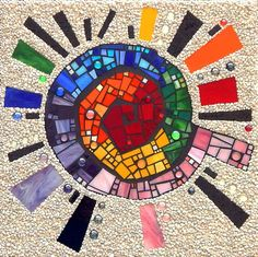 "Mosaic Wall Art ""SHINE"" x Stained Glass and Gravel Mosaic Art Large Handmade Contemporary Multimedia Mosaic Art for the Wall Mosaic Garden Art, Mosaic Tile Art, Mosaic Artwork, Mosaic Crafts, Mosaic Projects, Mosaic Tile Table, Mosaic Mirrors, Mosaic Designs, Mosaic Patterns"