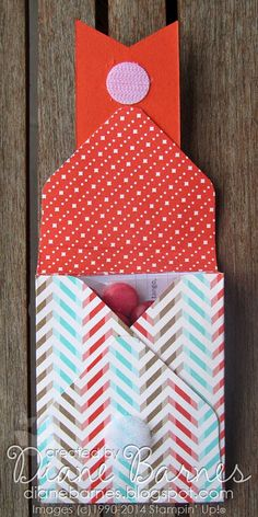 Stampin Up Envelope Punch Board gusseted treat pouch by Di Barnes #stampinupau #colourmehappy #inspirecreateshare2014