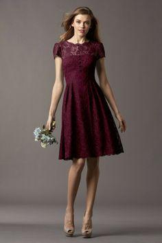 Watters Maids Dress Ash Style 4257 | Watters.comwine dark cranberry