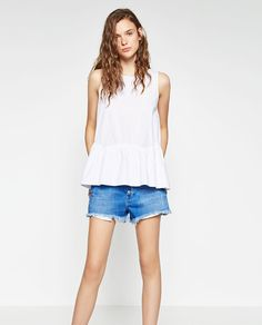 ZARA - WOMAN - PEPLUM POPLIN TOP